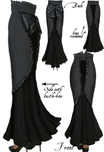 Victorian Steam Punk Ruffle Skirt...if i was taller id wear this but it wld just drag on me