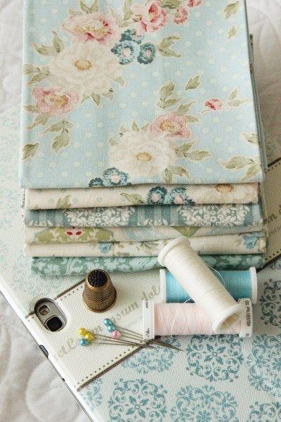 Tilda fabrics. Would make pretty pillowcases.
