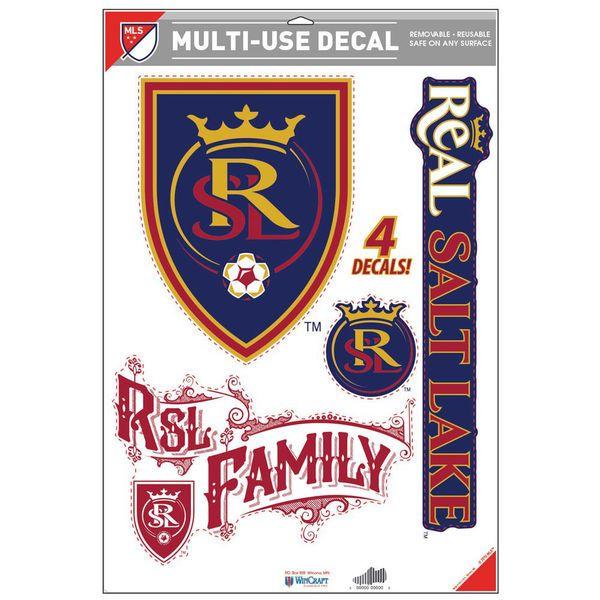 """Real Salt Lake WinCraft 11"""" x 17"""" Multi-Use Cut to Logo Decal Sheet - $10.99"""