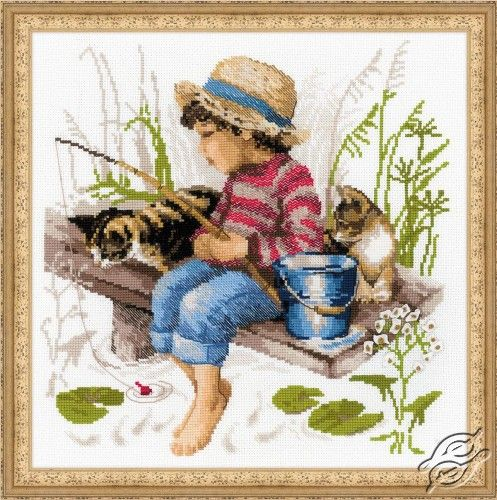 Let's Go Fishing - Cross Stitch Craft Kits by RIOLIS - 1470
