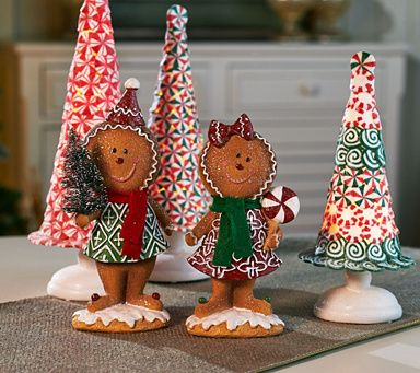 This precious pair of gingerbread figures by Valerie Parr Hill is sure to bring a smile to all who see them. QVC.com