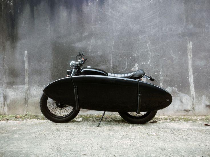 "My new board ""Boreas"" (5""11) #custom bike #surf #surfboard #motorbike #custom"