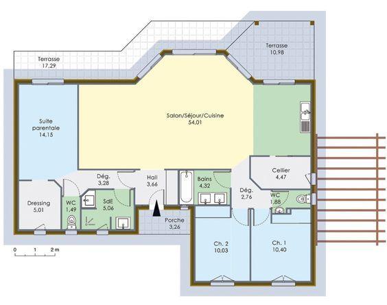 Les 25 meilleures id es de la cat gorie plan maison 120m2 for Maison conteneur 120m2