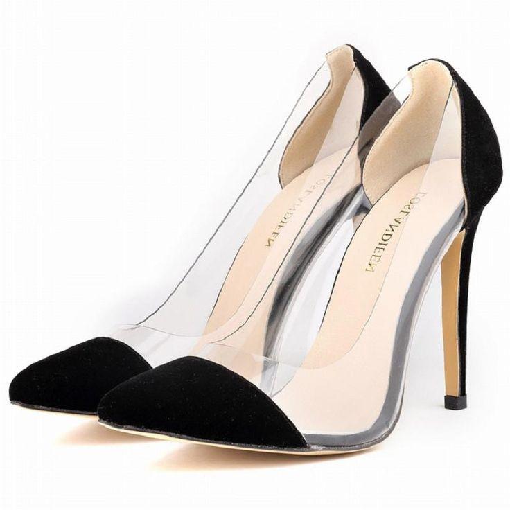 Encontrar Más Bombas de las mujeres Información acerca de Patchwork color mezclado cristalino transparente de corte, además de zapatos de tamaño 35 42 negro rojo azul verde amarillo rosa púrpura sandalias, alta calidad zapato zapatos de la tierra, China elevación del zapato Proveedores, barato zapatos con tacones rojos de Brand Shopping Center en Aliexpress.com