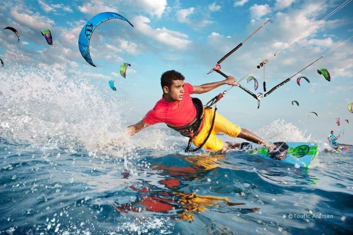 Egypt, Hurghada, El-Gouna, Kite-surfing.  Photographed by: Toufic Araman (www.aramanstudio.com) #MyBelovedEgypt #ComeAndVisit