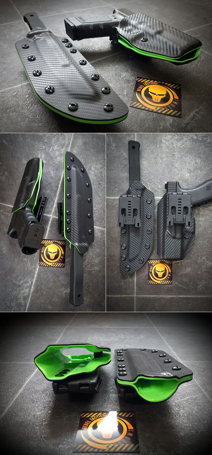 Rebel Tactical Customs Does Perfect Fit Kydex Pistol Holsters & Knife Sheaths | Popular Airsoft