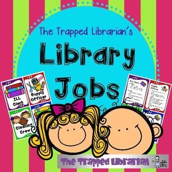 Library Jobs Kit from The Trapped Librarian contains everything you need to get set up to have student workers in your library.