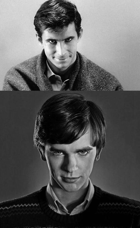 Original Norman Bates and the new Norman Bates. They did a good job with casting and sticking to the Hitchcock feel. Great show!