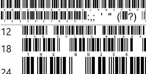 Font Barcode Free Download - C39HrP24DlTt (TrueType)