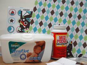 QuicKutz Company Blog: Decorative Baby Wipe Box