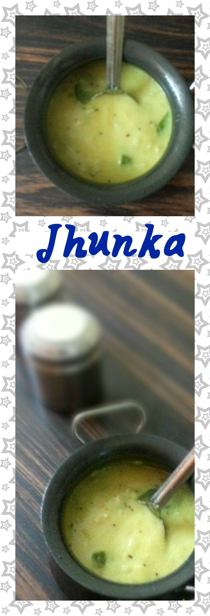 Jhunka- A simple and easy to prepare gram flour based gravy side dish for chapathi