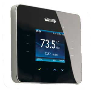 You can save 10% and more on your heating bills by using a programmable thermostat to control your underfloor heating system.  - http://www.warmup.co.uk/blog/uk/2014/05/22/programmable-thermostat-saves-you-money/
