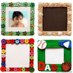 Craft Stick Photo Frame  craft