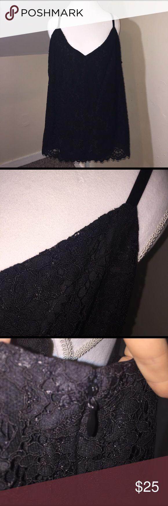 NWT Ralph Lauren Black Lace Tank Top Beautiful black Lace Tank Top with zipper closure. BRAND NEW! This has a underlay under the lace! Lauren Ralph Lauren Tops Tank Tops