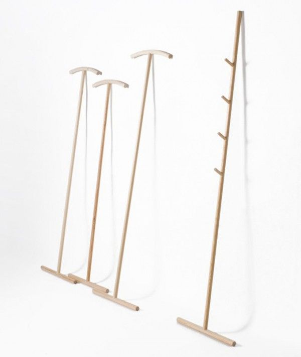 I don't have a walk in cupboard, but when my hangers run out, I'm definitely going to look at this alternative: kleiderstiele. source: http://www.stilsucht.de/03/2012/kleiderstiele/