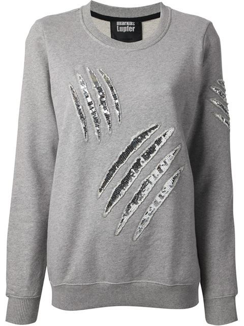 Shop Markus Lupfer embellished sweatshirt in Smets from the world's best independent boutiques at farfetch.com. Over 1000 designers from 60 boutiques in one website.