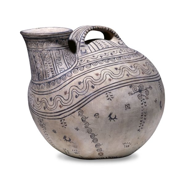 Decorated pottery askos  Daunian, about 350-325 BC From Canosa, Puglia, Italy