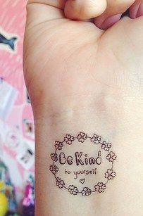 """You can choose from slogans like """"breathe"""", """"it will pass"""" and """"I can do this.""""   These Temporary Tattoos Act As Positive Reminders For Anxiety Sufferers"""