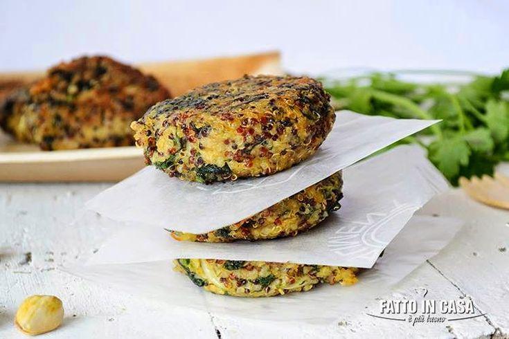 quinoa, ricette con la quinoa, ricette vegan, fatto in casa e piu buono, polpette, polpette light, polpette di quinoa, polpette di spinaci, Hamburger