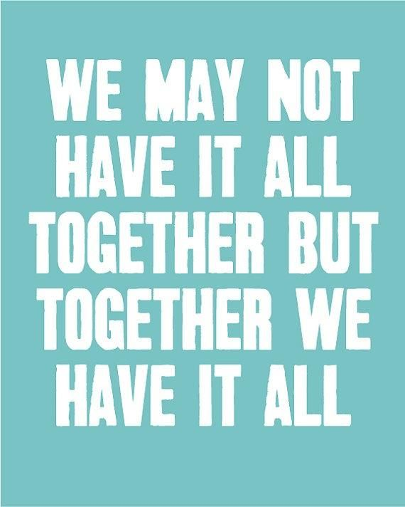 Together we can and we will