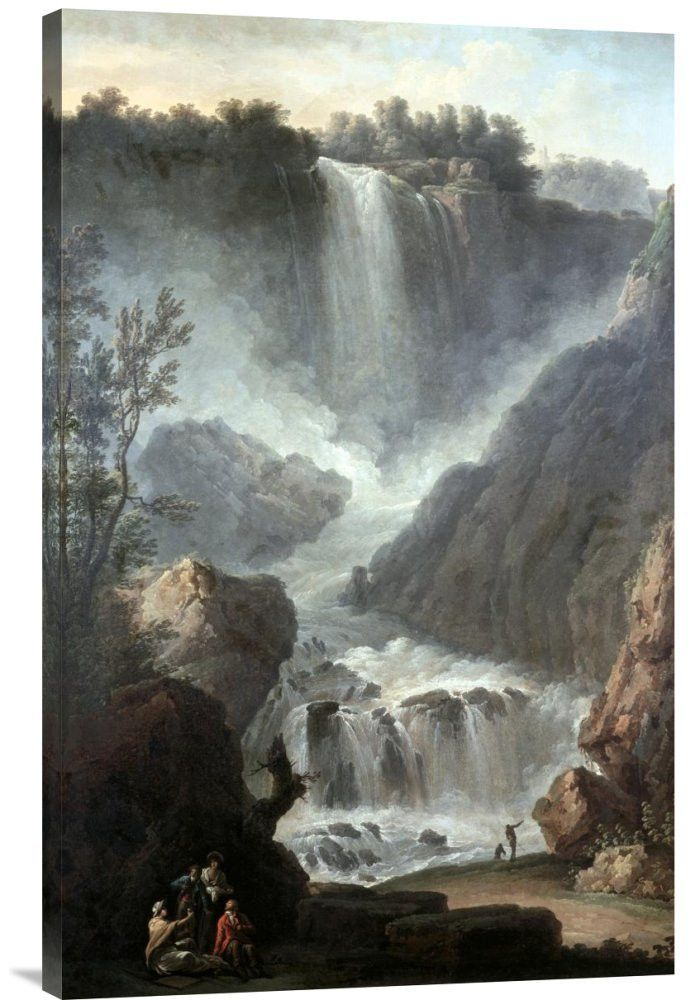 Buy Feng Shui vertical wall art painting Falls of Terni by Claude-Joseph Vernet, which is available for sale in our waterfall wall art paintings collection. This positive energy ready-to-hang stretche