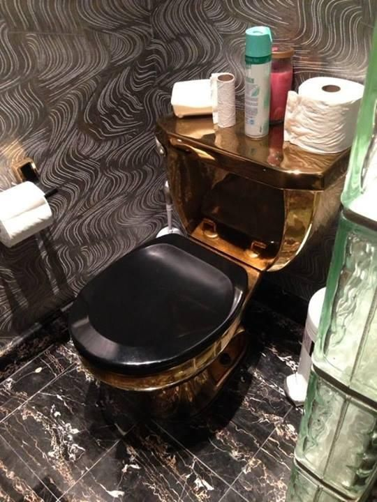Gold Toilet From Mc Hammer S Old Mansion Toilets And