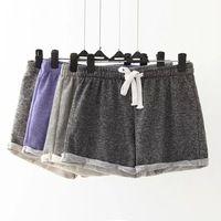 XLJ59 Fashion 2016 Summer Women Elastic Waist Tunic Drawstring Elegant Beach Sport Pocket Cuffs Casual Brand Shorts