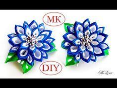 Резинки канзаши, МК / DIY Scrunchy with Kanzashi flowers - YouTube