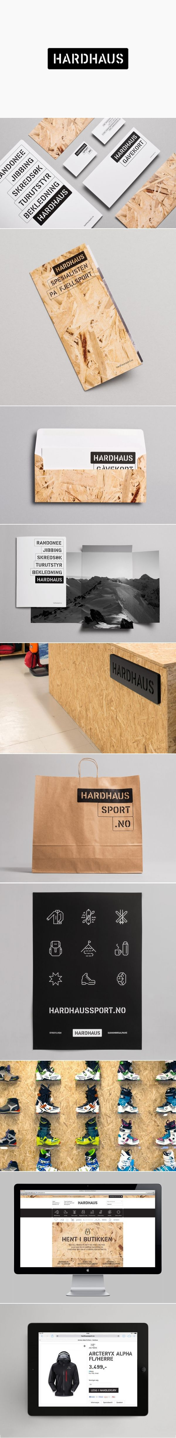 Hardhaus Sports Logo & Brand Identity Design. | #stationary #corporate #design #corporatedesign #identity #branding #marketing < repinned by www.BlickeDeeler.de | Visit our website: www.blickedeeler.de/leistungen/corporate-design