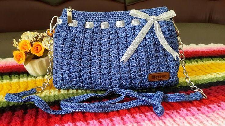 Frozen Blue bag. Made by me, Rona Yuliani. -MERONA Crochet-