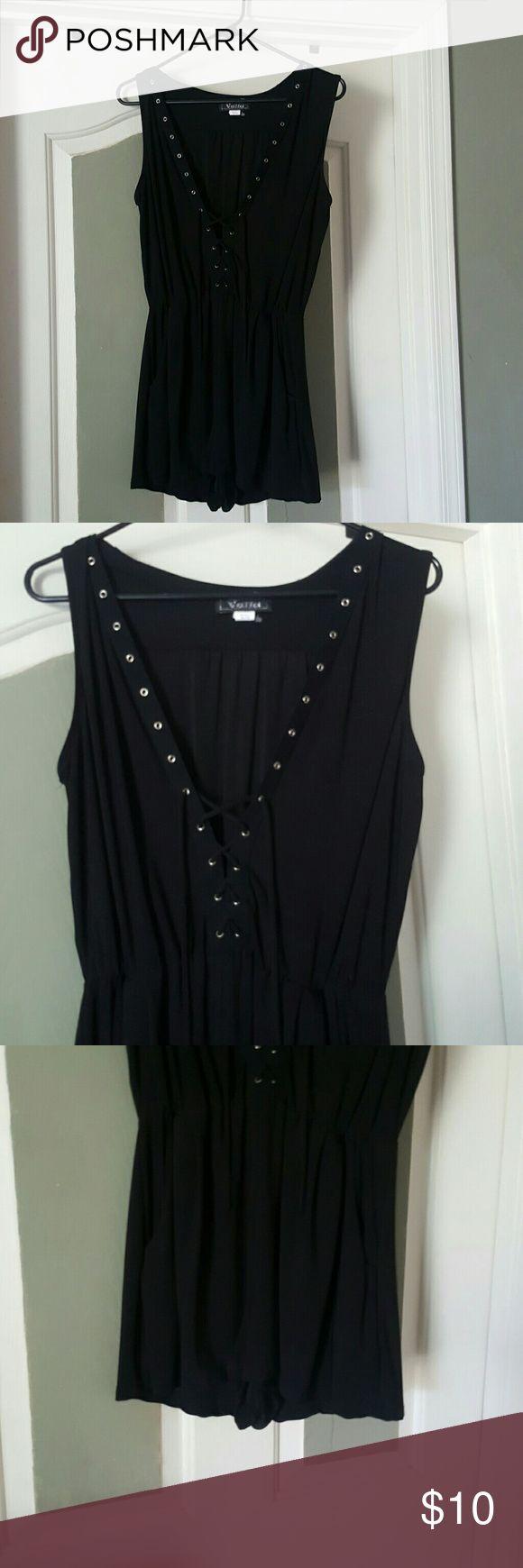 Black Rompers dress Cute short little Black dress Romper, brand new never worn! Junior size XL Dresses Mini