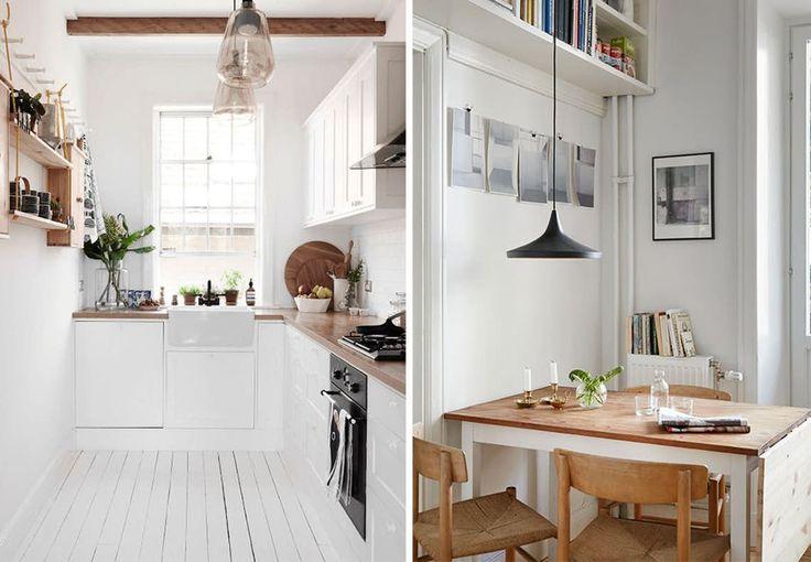 Du trenger ikke et stort kjøkken for at det skal være inspirerende og godt å være der. Smått kan være godt! Her er 10 små kjøkken med de smarteste løsningene fra Pinterest.