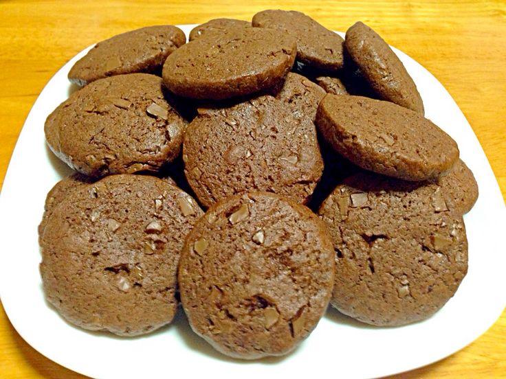 プー's dish photo ホットケーキミックスで チョコチップクッキー | http://snapdish.co #SnapDish #レシピ #おやつ #バレンタイン #クッキー #チョコレート