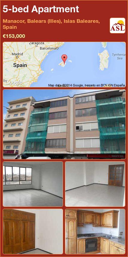 5-bed Apartment in Manacor, Balears (Illes), Islas Baleares, Spain ►€153,000 #PropertyForSaleInSpain