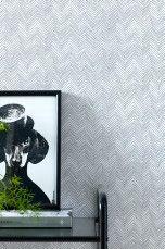 Wallpaper by ellos Beryl-tapetti Tummanharmaa, Petroli - Kuviolliset | Ellos Mobile