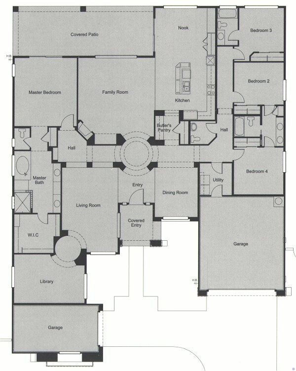 31 best open floor plans images on pinterest dreams for How big is a two car garage square feet