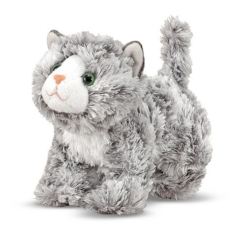 Roxie Grey Tabby Kitten Stuffed Animal | Toys for 12-24 month olds | Melissa and Doug