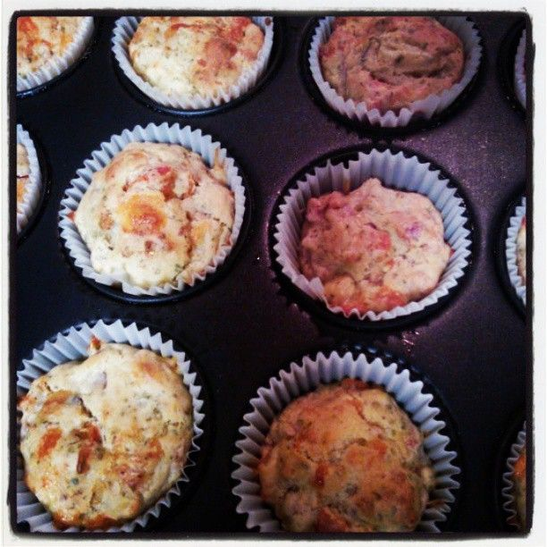 Baking Tray of Pizza Muffins