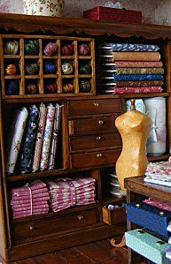 Minature fabric room, not today but maybe someday. I love love love this!