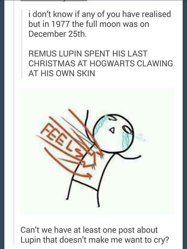 This very sad Christmas for little Remus Lupin.