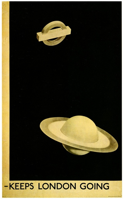 Man Ray poster for the London Underground. 1932.