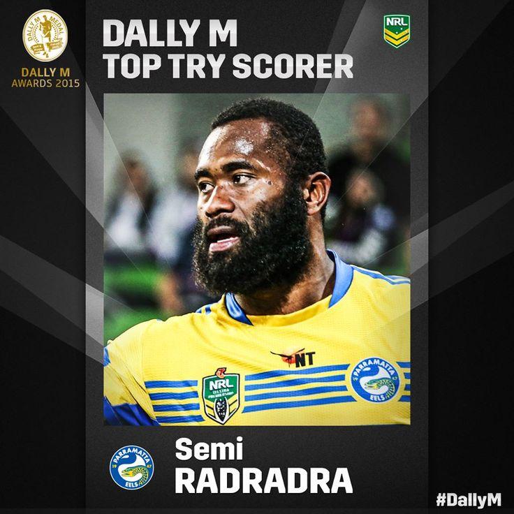 #DallyM Top Tryscorer of the Year - 2015 Semi Radradra.