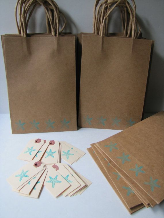 Wedding Gift Bag Ideas For Destination Weddings : from etsy destination wedding welcome bags starfish gift bags by ...