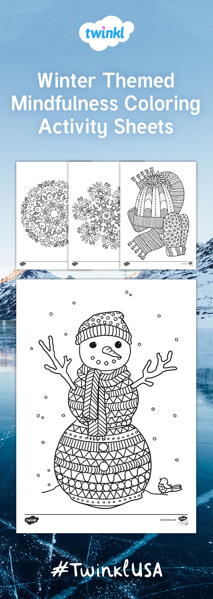 This beautiful set of coloring sheets features a selection of different images all related to the winter season. Great for a variety of activities for children and adults alike - you can use them to reinforce fine motor skills, as inspiration for independent writing, or just for art fun!