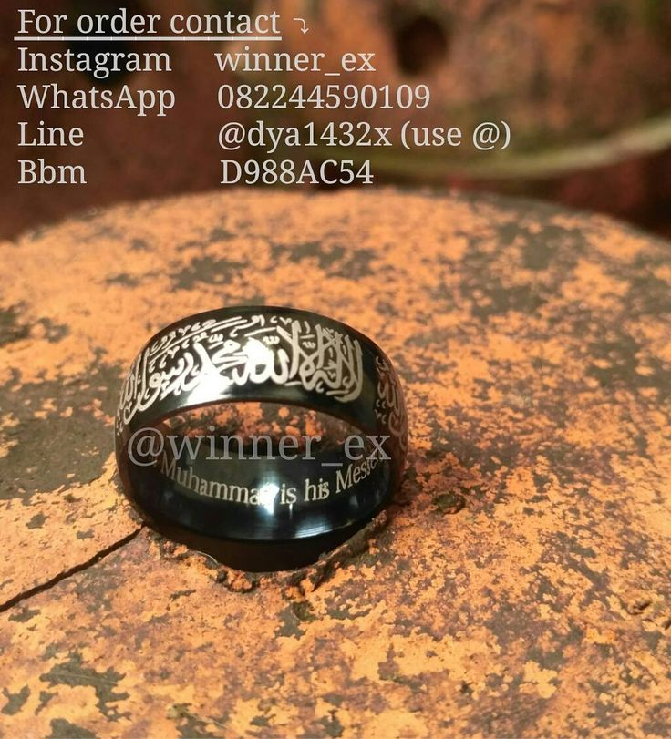 Assalamu'alaykum akhi wa ukhti READY for order now! ARABIC STEEL Color : Black Tidak Pudar  Tidak berkarat Fr : Turki PRICE : Rp 117.000/pcs (INCLUDE 5k For Yatim Sodaqoh) Matrial = Stainless steel  ORDER DI  Klik  @winner_ex  Klik  @winner_ex  Klik  @winner_ex  Ready Size : 6-7-8-9-10-11-12-13  Sunnah (ikhwan)  Perhiasan (akhwat)  Mahar  Kado ataupun Khitbah  For order contact : Bbm : D988AC54 Line : @dya1432x (use @) Whatsapp : 08-2244-590-109 Instagram : @winner_ex  #Note : Mohon di ingat…
