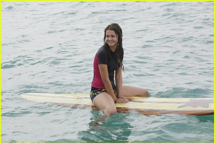 Maia Mitchell on set of Teen Beach Movie