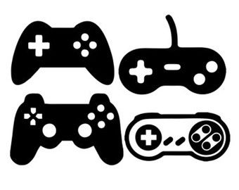 Game Controllers Svg Dxf File Instant Download Silhouette