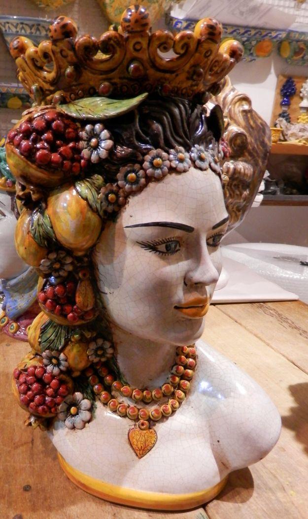 """Sicilian ceramic """"Moor's head"""" from Caltagirone"""