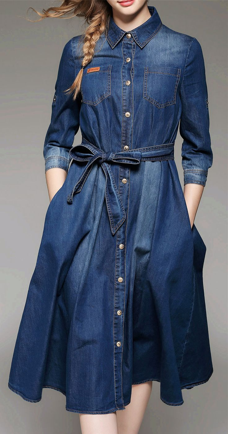 Best 25+ Womens denim shirt dress ideas on Pinterest | Womens ...