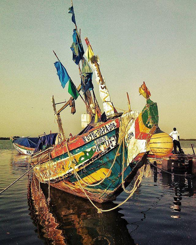 Colorful boat in Ziguinchor - Sénégal